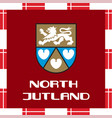 national ensigns of denmark - north jutland vector image
