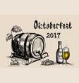 oktoberfest beer festival holiday decoration vector image vector image
