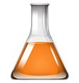 orange liquid in glass beaker