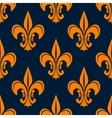 Orange vintage fleur-de-lis seamless pattern vector image vector image