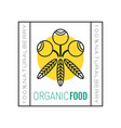 organic food logo badge and label for healthy vector image vector image