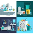 Orthogonal Hygiene Icons 2x2 Design Concept vector image vector image