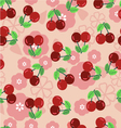 Pattern with a cherry vector image vector image