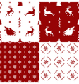 patterns with reindeer vector image vector image