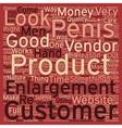 Penis Enlargement what to look out for text vector image vector image