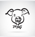 pigs head design on a white background farm vector image vector image