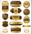 premium and luxury golden retro badges and labels vector image vector image