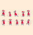rats santa claus funny christmas characters in vector image vector image