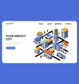 real estate landing page smart city design vector image vector image