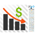 recession trend flat icon with bonus vector image vector image