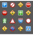 Road traffic signs glossy icons set vector image