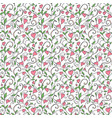 seamless love background wedding floral pattern vector image vector image