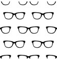 seamless pattern with black hipster glasses vector image