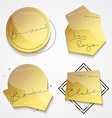 Set 4 gold label with black text Stylish realistic vector image