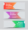 set colored web banners with arrow shapes and vector image