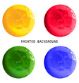 set of colorful watercolor paint circles vector image vector image