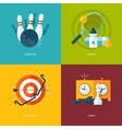 Set of flat design concept icons for sports kinds vector image