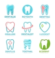 Set of tooth logo design template Dental logo vector image vector image