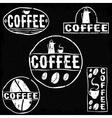 Set of vintage retro coffee labels vector image