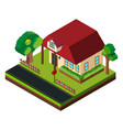 single house by the road in 3d design vector image vector image