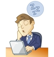 Sleeping at the desk vector image