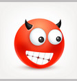 smileyemoticon red face with emotions facial vector image vector image