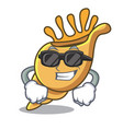 super cool exotic shell character cartoon vector image