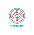 technology - logo template for corporate vector image vector image
