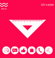 the ruler triangle icon vector image vector image
