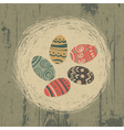 vintage easter eggs vector image vector image