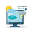weather and climate design vector image