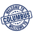 welcome to Columbus vector image vector image