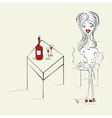 woman with a cigarette vector image vector image
