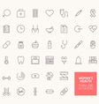 Womans Health Outline Icons for web and mobile app vector image vector image