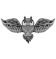 Owl in tribal style for mascot or tattoo vector image