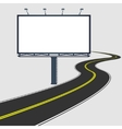 billboard with road vector image
