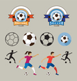 Football or Soccer Player and Graphic Elements vector image