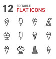 12 cone icons vector image vector image
