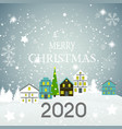 2020 happy new year and marry christmas background vector image
