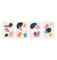 abstract watercolor posters modern paint art with vector image