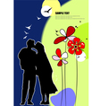 al 0706 kiss background vector image vector image