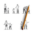 angry people - angry women and men with vector image vector image