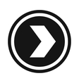 Arrow to right in circle icon simple style vector image vector image