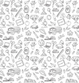 Back to school seamless pattern of kids doodles vector image vector image