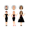 beauty women set vector image vector image