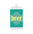 beer can icon flat style vector image