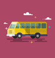 bus flat design vector image vector image