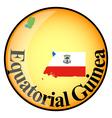 button Equatorial Guinea vector image