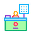 cashier table icon outline vector image vector image