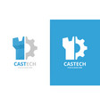 castle and gear logo combination tower and vector image